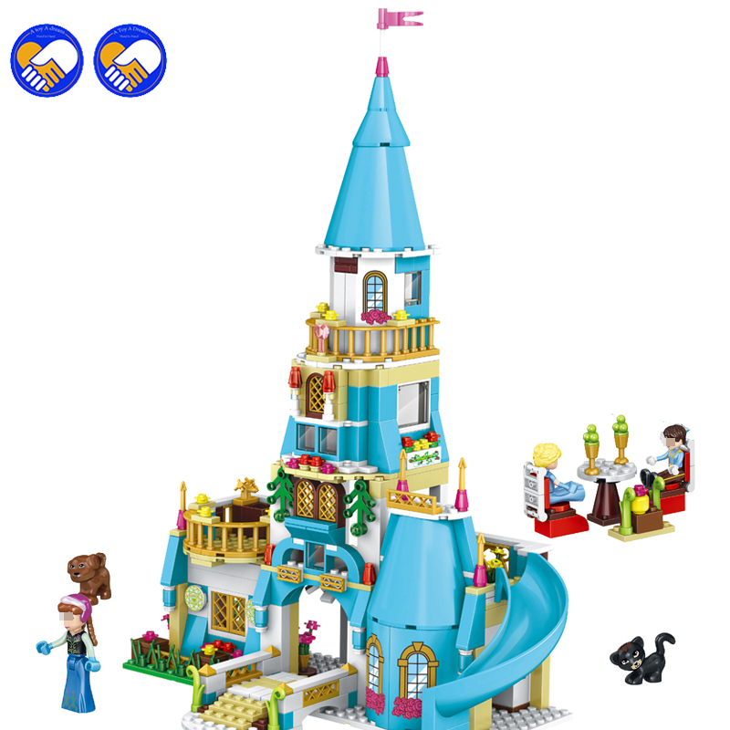 New 37008 Girl Friends Princess Anna and The Princess Castle Model Building Kits Blocks Bricks Girl Toys Compatible for Lepin<br>