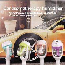 Car Humidifier Air Purifier Freshener 50ML Essential Oil Diffuser Aromatherapy DC 12V Portable Auto Mist Maker Fogger 4Colors(China)