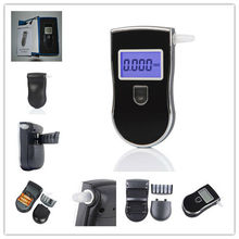 Patent Black Digital Alcotest Alcohol Breath Analyzer Detector Breathalyzer Tester Test Wholesale
