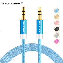 VOXLINK 1m/2m/3m/5m Aluminum Alloy Gold Plated 3.5mm Aux Cable Male to Male Audio Cable for Car iPhone MP3/MP4 Headphone Speaker