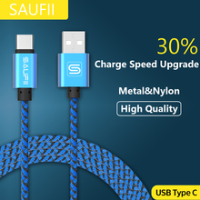 Original SAUFII USB Type C Cable for Macbook OnePlus 2 3 Type-C Charger Wire ZUK Z1 2 USB Type C Cables Fast Charging Letv