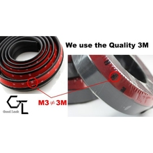 2.5M Universal 3M TPVC Front Bumper Lip Skirt Protector Front Bumper Strip Car Scratch Proof Adhesive Strip Rubber Bumpers