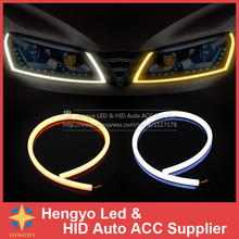 External Lights 60CM LED Flexible DRL Strip LED Daytime Running Light With Turn Signal LED Tube Light White Amber Switchback DRL(China)