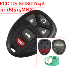 5(4+1) Buttons Keyless Remote Control Key Fob For GM/Chevrolet/Buick/PONTIAC/Chevy FCC:KOBGT04A