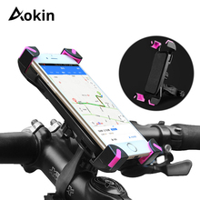Aokin Phone Holder Universal Bicycle Bike Handlebar Clip Stand Mount Bracket For iPhone 3.5-6.5 inch Phones Holders 360 Rotate
