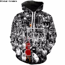 PLstar Cosmos Michael Jordan 23 hoodies 2018 The New Fashion Sweatshirt Jordan lore print Mens Womens O-Neck Tracksuit Hoody(China)
