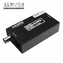 SSRIVER Extender Mini HDMI to SDI Converter Adapter 3G HD SDI for driving HDMI Monitors with Power adapter  EU US UK AU Plug