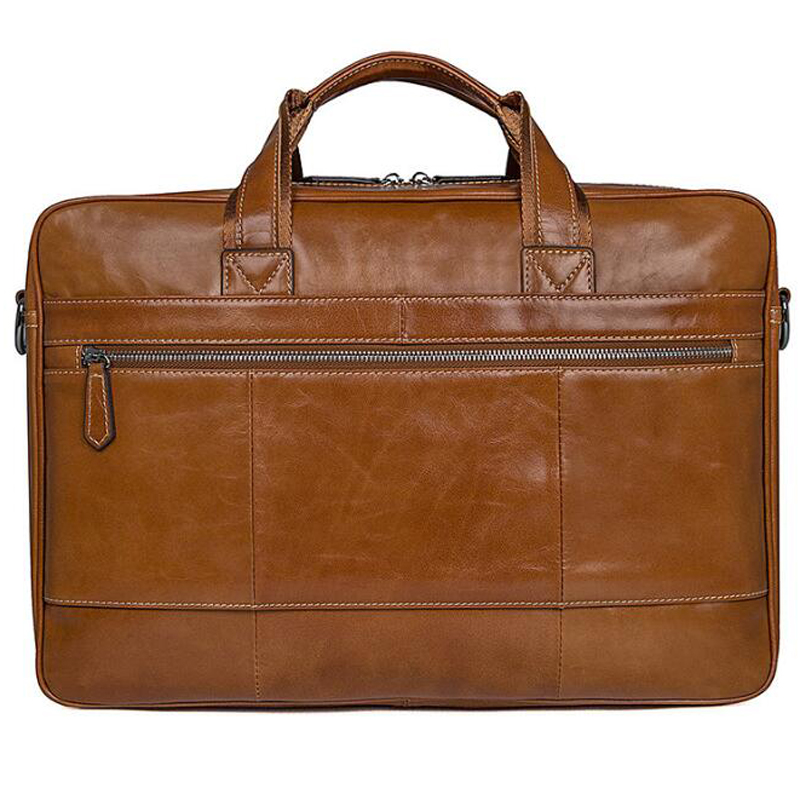 LEXEB Vintage Full Grain Genuine Leather Briefcases For Men Business Double Travel Bags High Quality Laptop Bag Large In Brown