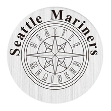 20PCS New Arrial Silver Window Plate Seattle Mariners 22MM Locket Disk Fit 30MM Glass Floating Locket