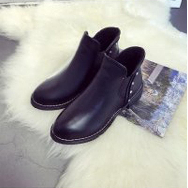 Shoes Woman Warm Russian Shoes Black Platform Martin Boots Women Spring/Winter Low Heels Shoes Short Plush Ankle Boot Size 35-39<br><br>Aliexpress