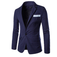2016 spring and summer linen cotton blazer mens soild 4 color men Dress suits plus size men slim fit blazers men suit jacket