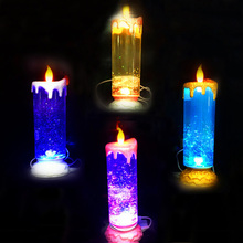 Creative Rotating Candle LED Night light USB Rechargeable Candle Lamps for Wedding Christmas Decoration Bedroom Night light