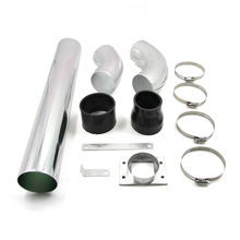 Universal Aluminum Car Air Intakes Tube Multiple Combined High-flow Air Intake Mounting kits 3''76mm Cold Air Intake System(China)
