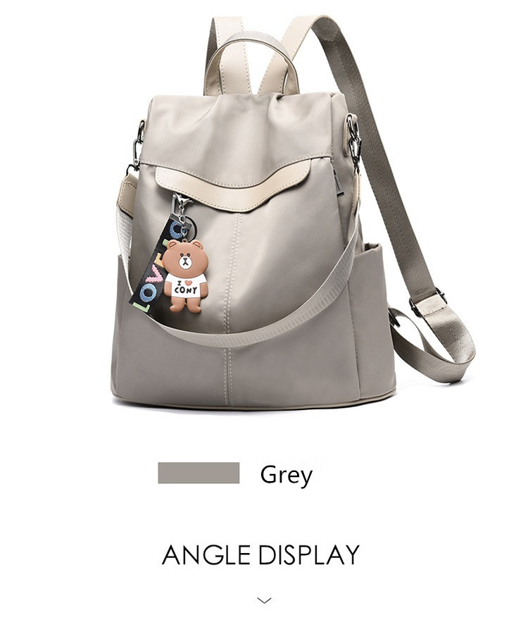 Large Capacity Backpack Women Preppy School Bags for Teenagers Female Oxford Travel Bags Girls Bear Pendant Backpack Mochilas 22 Online shopping Bangladesh