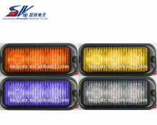 2PCS New 3W High Power 3 LED Waterproof Car Truck Emergency Strobe Flash warning light Amber Red blue green purple