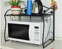wrought iron microwave oven rack shelf The ground double oven