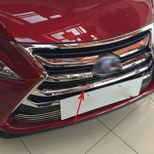 For Lexus NX200 NX300H 2015 2016 ABS Chrome Front Grille Around Trim Front Center down Grill Grille Cover Racing Grills 7pcs