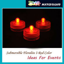 KITOSUN Factory Wholesael 50LEDs red Color Small Battery Operated Submersible led Tea LIght FOr Halloween