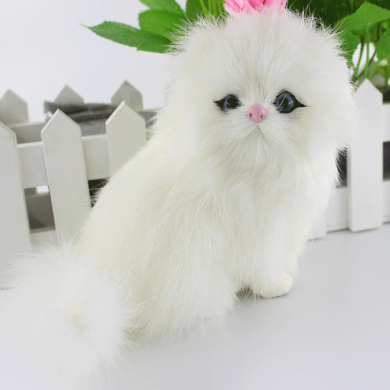 2016 Lovely Simulation animal doll plush sleeping cats New Simulation Persian cats stuffed plush toy party supply Christmas gift<br><br>Aliexpress