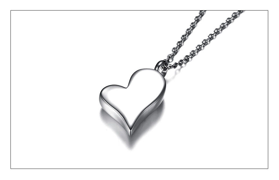 Meaeguet Stainless Steel Heart Urn Pendant Cremation Ashes Necklace For Women Memorial Personalized Keepsake Jewelry (3)