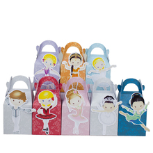 Ballerinas Ballet  Famous and Ballets Prince Favor Box Candy Box Gift Box Cupcake Box Boy Kids Birthday Party Decorations Kids