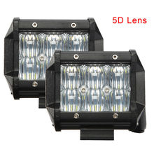"2pcs 4"" inch 42W 5D LED Work Light SPOT FLOOD Beam for Jeep Off-road 4WD Boat SUV ATV Truck LED Light Bar"