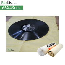Super Absorbent Big Size Large Deerskin anti static dry cloth for vinyl record, for CD / VCD / turntable record player(China)