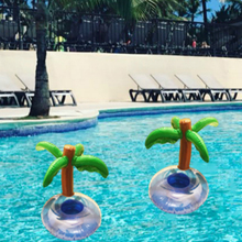 10PCS Hot Selling Coconut Palm Tree Inflatable Drink Holders Floating Toy Pool Can Party Bath Summer Swimming Toy Drop Shipping