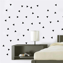 48pcs/sheet Mini Triangles Wall Sticker Kids Room Wall Decoration adesivo de paredes Decals Home Decor DIY Peel And Stick Art(China)