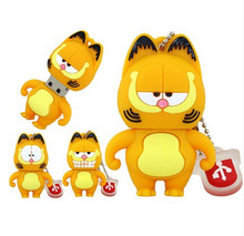 Usb flash drive Pendrive 4GB 8GB 16GB 32GB Pen Drive USB 2.0 U Disk silicone lovely Garfield Cate cute animal Memory stick gift