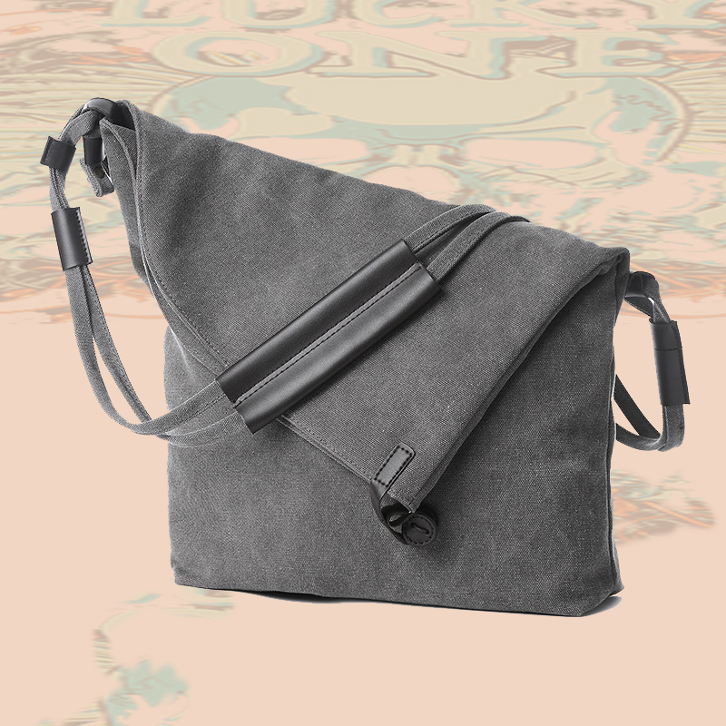 2017 new personalized trend of retro male bag Crossbody Canvas Shoulder Bag boys diagonal leisure bag book on Korean Students<br><br>Aliexpress
