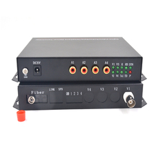 Multifunction 4 Video 1 Audio Fiber Optic Optical Media Converters Transmitter Receiver For CCTV Security System