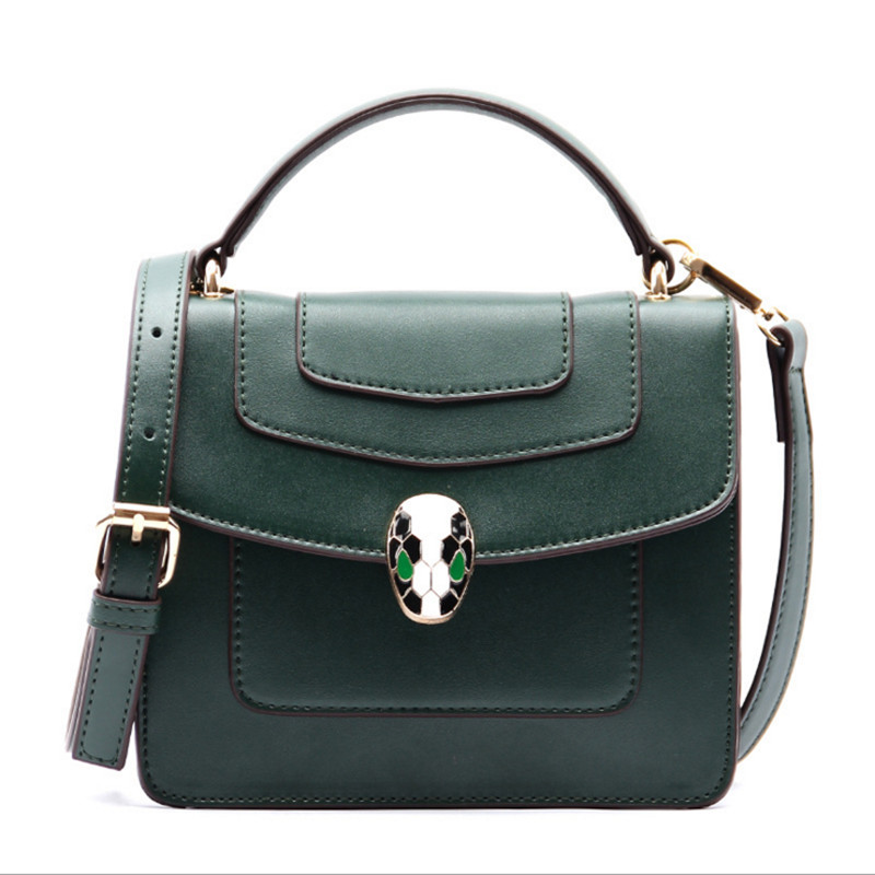 Fashion vintage Snake head womens handbags Luxury leather famous brands handbag women messenger bags Crossbody Bag Bolsas <br>