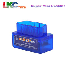 2016 High Quality Super Mini ELM 327 Bluetooth OBD2 OBD II Works On Android Torque  3 Years Warranty ELM327 Free Shipping