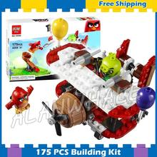 175pcs The Birds Movie Game Piggy Plane Attack 10506 Building Blocks Model Games Bricks Kids Toy Kits Compatible With Lego(China)