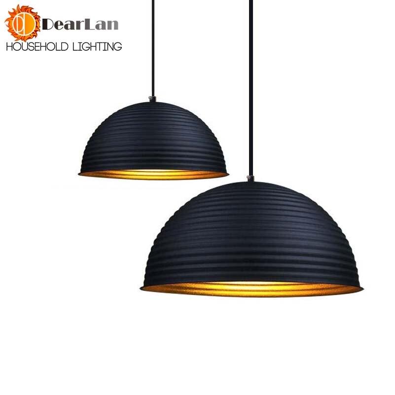 Aluminum Modern Brief Vintage Black  Pendant Lamp Nordic Design Bar Office Dining Pendant Lamp Aluminum Art Lighting<br>