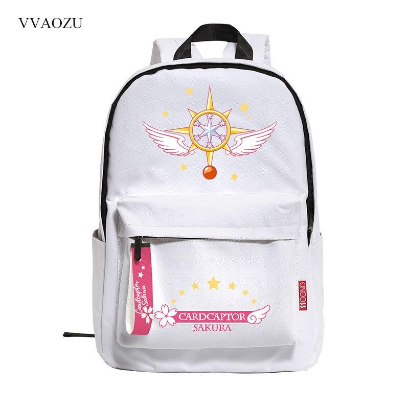 Anime Card Captor Cardcaptor Sakura Womens Backpack School Student Back Pack Backpacks Rucksack Mochila Escolar for Girls<br>