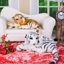 new creative lying big tiger &little child tiger toy plush tiger doll gift about 60cm(China)