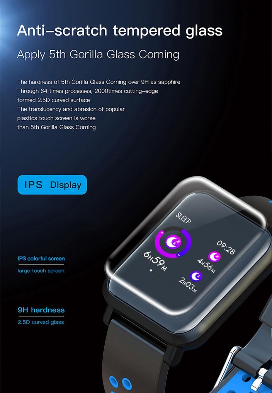 COLMI Smart Watch Men Tempered glass Fitness Tracker Blood pressure IP68 Waterproof Activity Tracker Women Smartwatch 1