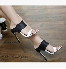 High Quality Brand Designer white black Shoes Patent Leather Studded Slingback Heels Sandals Sexy Women High Heels Sandals Pumps
