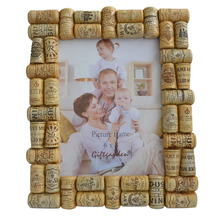 6x8 Picture Frame Wine Corks Design Photo Frame Decorative Picture Frame Anniversary Gift Fathers Day Gift Home Decor(China)