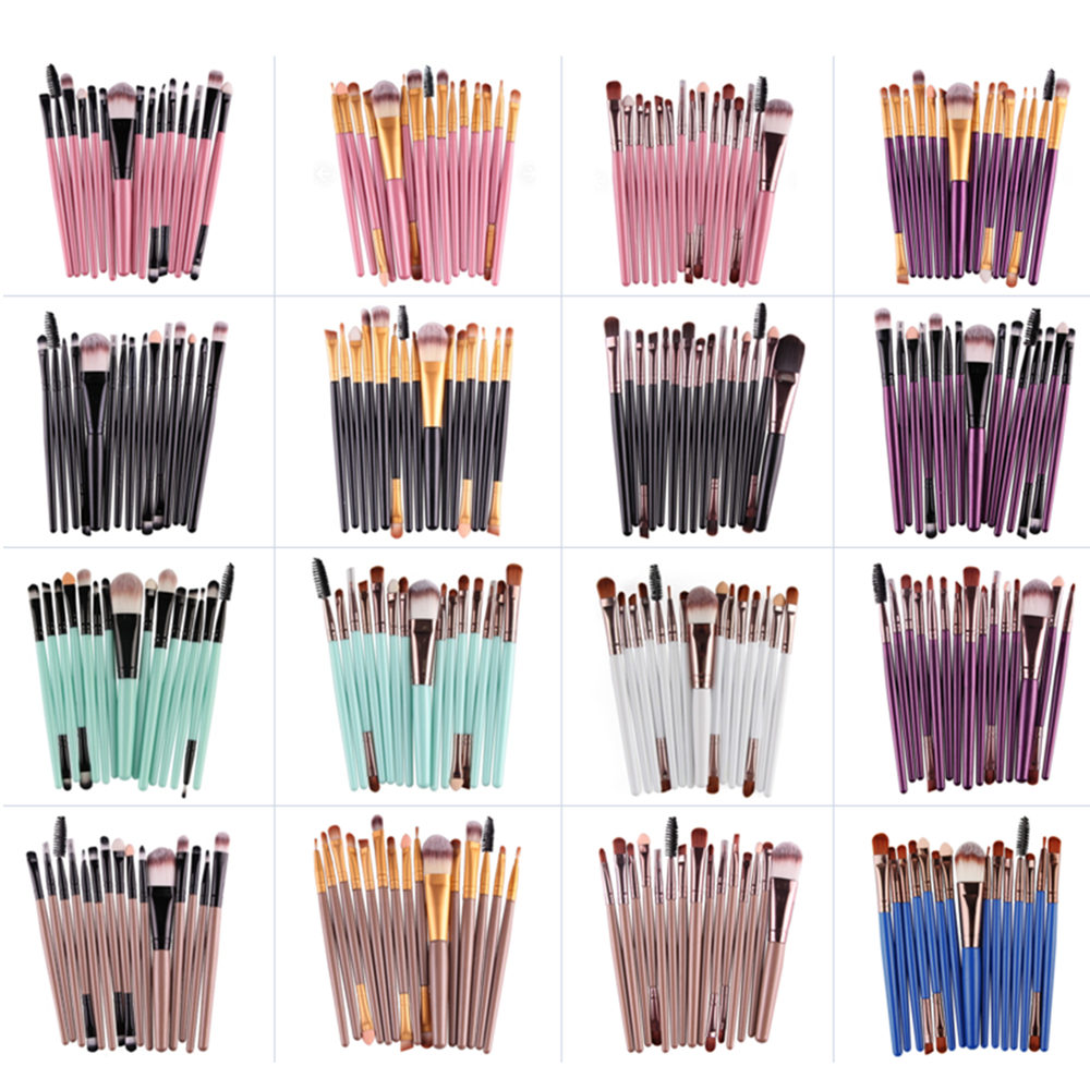 MAANGE Professional 15 Pcs Makeup Brushes Set Eye Shadow Foundation Eyebrow Eyeliner Eyelash Lip Brush Cosmetic Make Eye Tool