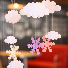 1 Set clouds hot air balloon stereo DIY Felt ornaments party supplies children room nursery Decoration Birthday Party Garland