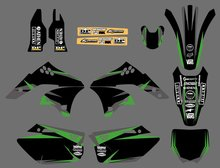0231 Power New Style TEAM GRAPHICS&BACKGROUNDS DECALS STICKERS Kits for Kawasaki KX250F KXF250 2006 2007 2008 KXF 250 KX 250F