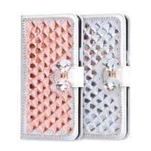 Rhinestone Case For LG X Style K200DS Leather Case Flip Wallet Cover Glitter Diamond Card Slots Stand Mobile Phone Cases Gift