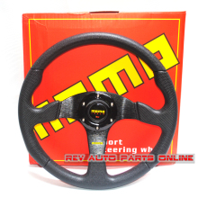 350mm Flat PU MOMO Racing Sport Steering Wheel(China)