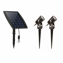 Waterproof IP65 Outdoor Garden LED Solar Light Super Brightness Garden Lawn Lamp Landscape Spot Lights(China)