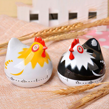 kitchen Timer Clock Cute Hen shape Cooking countdown Kitchen Cooking Mechanical Countdown 2C