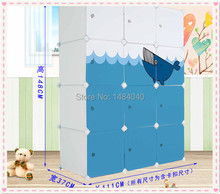 Combination of plastic wardrobe simple wardrobe bedroom wardrobe lockers(China)