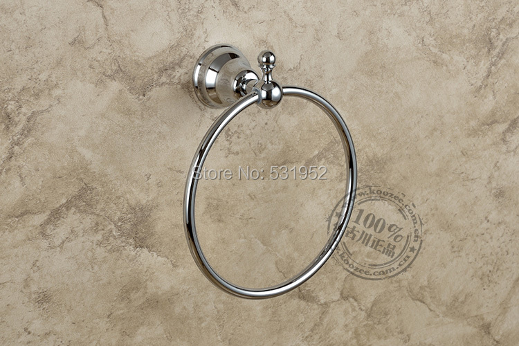 Free Shipping Antique Round Towel Ring , Chrome Plate Towel Holder,Bathroom Accessories, Brass Made,North America Euro Design<br>